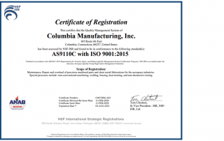 AS9110 Certification for Aerospace Maintenance, Repair and Overhaul (MRO) Management System